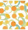 orange and lemon pattern seamless vector image vector image