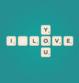 love message written with tiles vector image