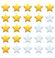 modern stars icon set on white vector image vector image