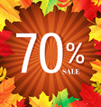 Autumn Poster With Leaves vector image vector image