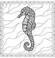 Stylized Sea Horse vector image