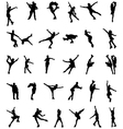 silhouettes of skaters vector image