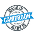 made in Cameroon blue round vintage stamp vector image