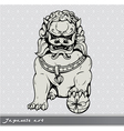 japanese foo lion vector image vector image