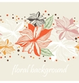 Floral Border seamless Background vector image