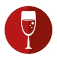 glass wine drink shadow vector image