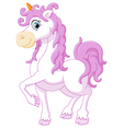 Little cute cartoon fantasy unicorn vector image
