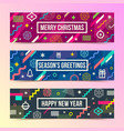 set of abstract christmas background banners vector image