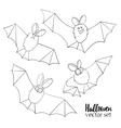 Set of ridiculous animation bats An vector image