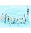 toronto abstract skyline vector image