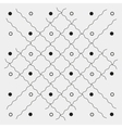 Pattern geometric seamless monochrome minimalistic vector image