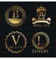 Gold emblem icon set design vector image