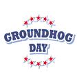 Groundhog Day logo symbol isolated vector image