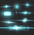 Transparent lens flare effect set vector image