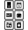 set of household appliances for home vector image