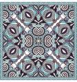 silk neck scarf or kerchief square pattern design vector image vector image