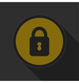 dark gray and yellow icon - closed padlock vector image