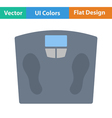 Flat design icon Floor scales vector image