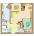 Apartment drawing vector image