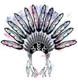 aztec style headdress made out of feathers symbol vector image