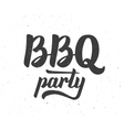 BBQ party logo Barbeque text lettering label vector image