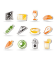 food and drink icons 2 vector image