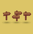 icon tourist arrow signposts road to right vector image