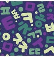 Korean alphabet pattern vector image