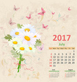 lovely bouquet of white daisies on grunge vector image