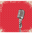 Microphone Dot vector image