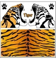 tiger head silhouette vector image