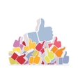 Pile of likes vector image
