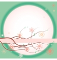 Greeting card with blooming branches vector image vector image