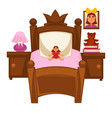 bed of little girl vector image vector image