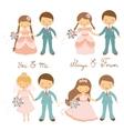 Wedding couples set vector image