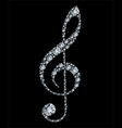 diamond treble clef vector image vector image