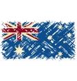 Australian grunge flag vector image