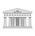 greek doric temple vector image vector image