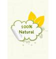 eco friendly sticker vector image vector image