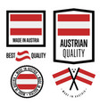 austria quality label set for goods vector image