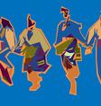 bulgarian dance vector image