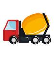 concrete mixer truck icon vector image