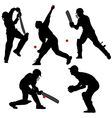 Cricket Sport Silhouette vector image