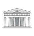 greek doric temple vector image