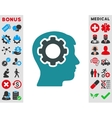 Human Mind Icon vector image