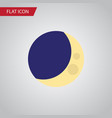 isolated crescent flat icon half moon vector image