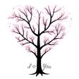 Love tree heart shaped vector image