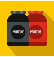 Nutritional supplement for athletes icon vector image