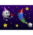 Rocket party vector image