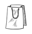 Sketch of paper shopping bag vector image
